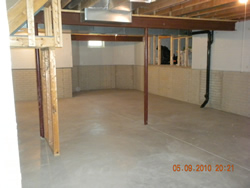 before basement remodeling